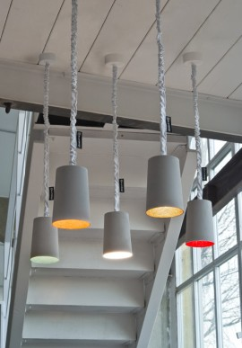 "Suspension Lamp ""Paint cemento"""