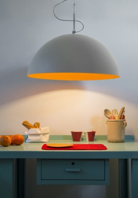 "Suspension Lamp ""Mezza Luna 1 cemento"""
