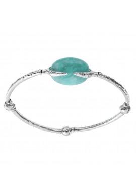 "Silver bracelet with stone ""Portofino"""