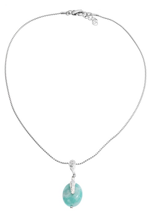 "Silver Necklace with stone ""Portofino"""