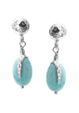 "Silver Earrings with stones ""Portofino"""