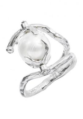 """Anello in argento e perla """"Luna"""""""