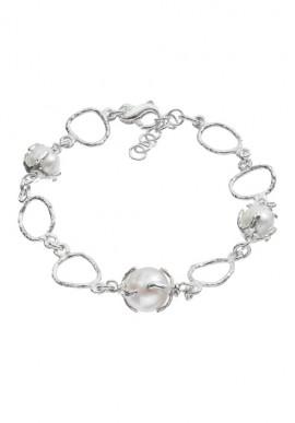"""Bracciale in argento e perle """"Luna"""""""