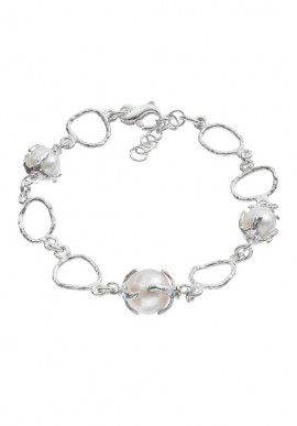 "Silver bracelet with pearls ""Luna"""