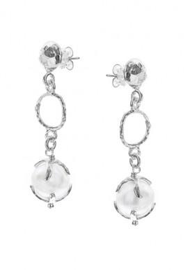 """Orecchini in argento e perle """"Luna"""""""