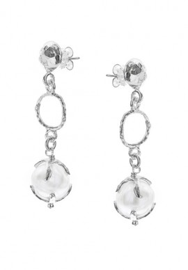 "Silver Earrings with pearls ""Luna"""