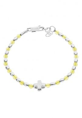 """Silver teen bracelet with stones """"Crediamo"""""""