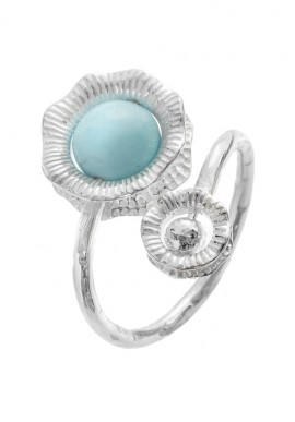 "Silver ring and stone ""Capri"""