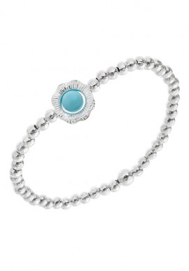 "Silver bracelet with stone ""Capri"""