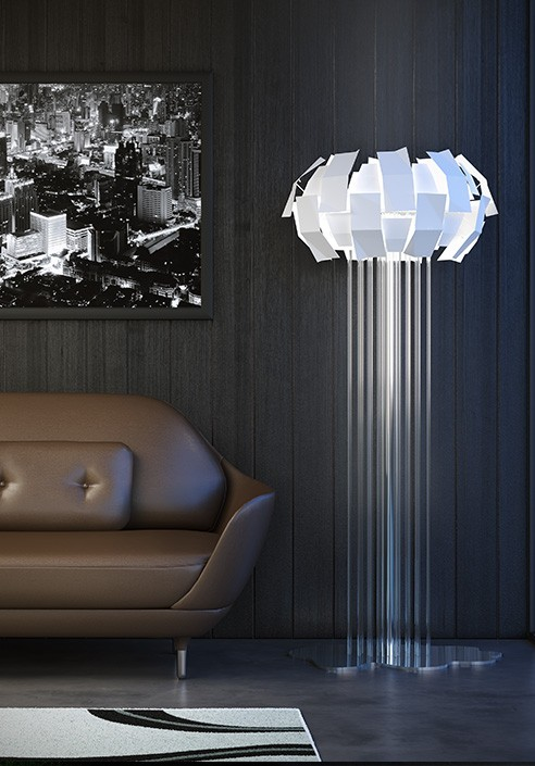 Piantana lampada da terra acquistala online su for Lampade da comodino particolari