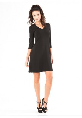 Three-quarter sleeves dress