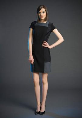 Short sleeve shift dress