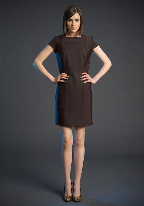 5233 da donna FINEMENTE LAVORATO A MAGLIA-miniabito dress abito pelliccia sintetica-collo tg 34//36.