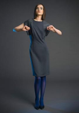 Tubino longuette in pura lana colore grigio