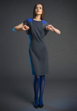 Tubino longuette in pura lana colore grigio viola