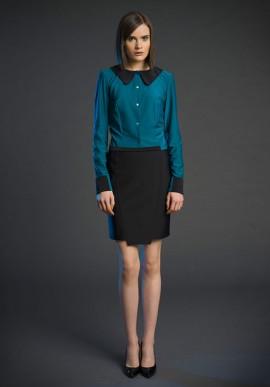 skirt above the knee black