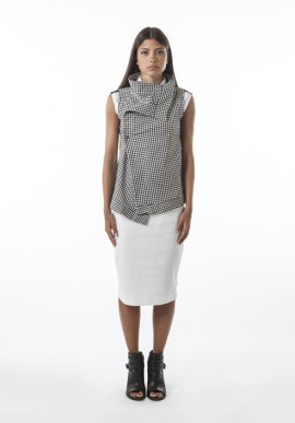 Asymmetrical vest sleeveless