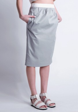 Tube skirt gray