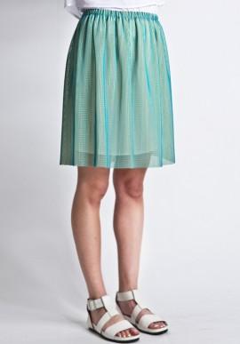 Skirt mesh green / yellow