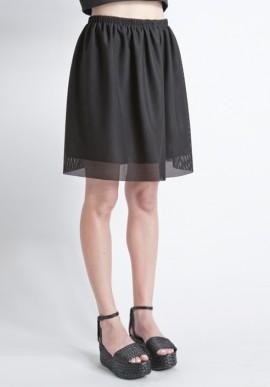 Skirt mesh black