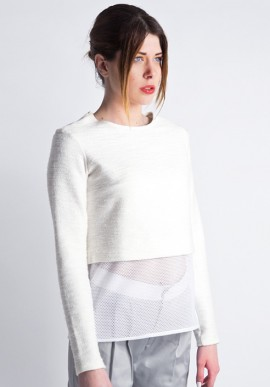 Sweatshirt with white net