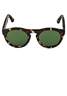 Havana/Plain Olive Green Sunglasses