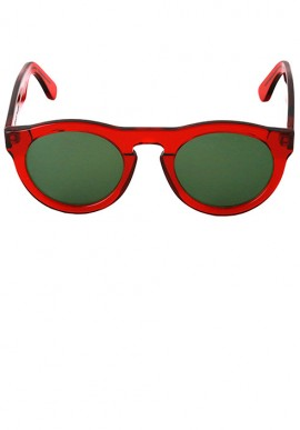 Red/Plain Olive Green - Sunglasses