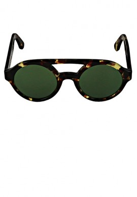 Havana/Plain Olive Green - Sunglasses