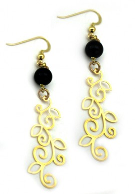 "Earrings gold color ""giovanna"""