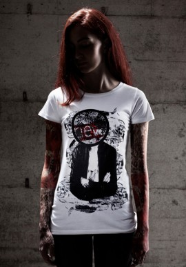 NEW MIKE t-shirt bianca con stampa