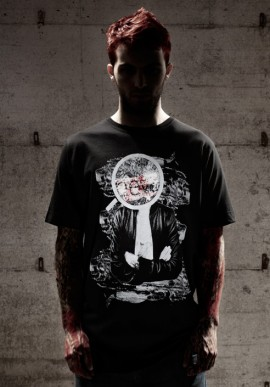 NEW MIKE t-shirt nera con stampa