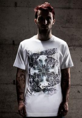 SKULLS t-shirt bianco con stampa