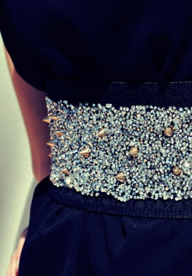 Belt with gold studs