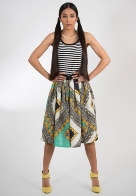 Cotton skirt printed
