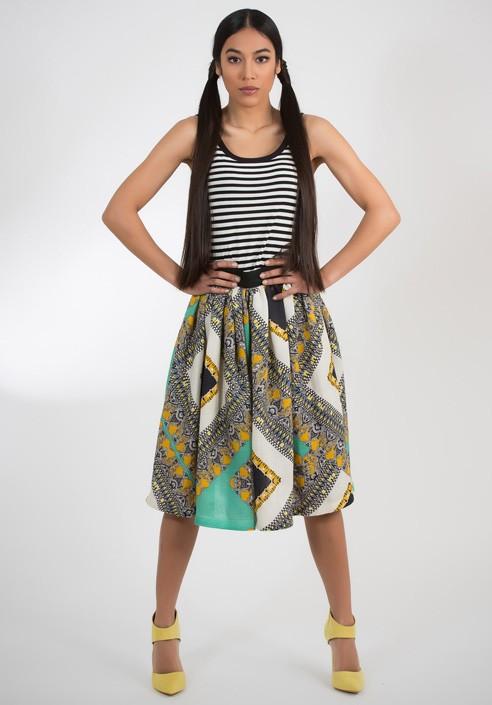 Cotton skirt printed