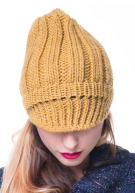 Ribbed hat with visor.