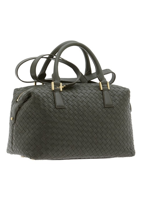 Laboratorio Tocano Bag braided trunk Satchel Bag soft leather woven effect  lady ... 2f04851391785