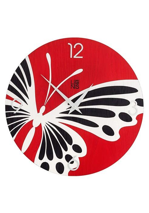 Orologio da appendere al muro in legno acquistala online for Orologio da muro farfalle