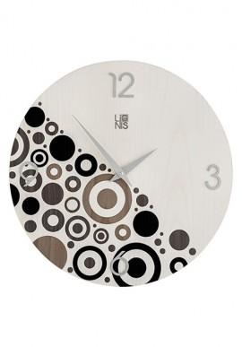 Orologio da muro con bolle e cerchi