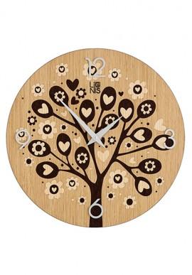 Orologio da muro love tree wengè
