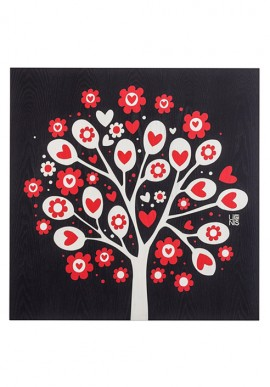 Painting: Love and hearts tree
