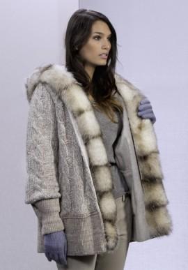 Cappotto in lana e pelliccia