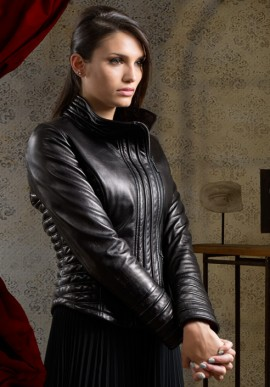 Blouson in leather