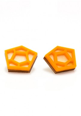 Earrings pentagonal