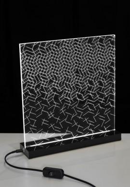 Lampada da tavolo OP-Art Artista: Claudio Brunello