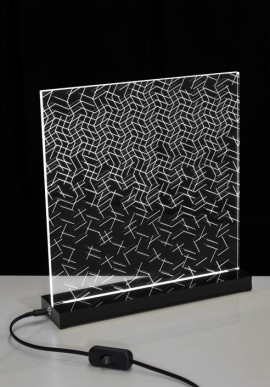 Table Lamp OP-Art Artist: Claudio Brunello