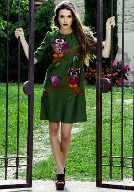 Dress in silk shantung
