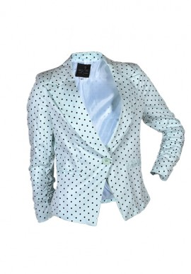 Blazer White polka dots/black for woman