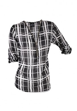 Square women shirt for women with zip