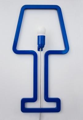 Lampada colore blu